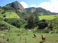 Bucolic views of mountains in Andradas, MG. Brazil