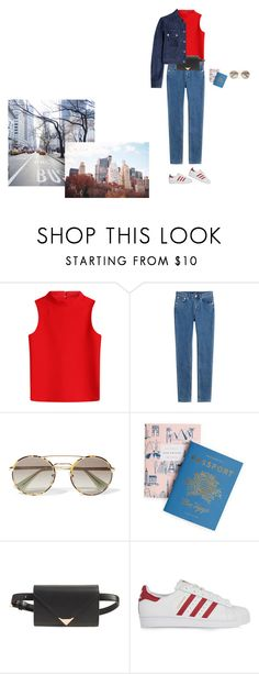 """67956"" by svetadanilova ❤ liked on Polyvore featuring Courrèges, A.P.C., Prada, Rifle Paper Co, Alexander Wang, adidas Originals and Michael Kors"