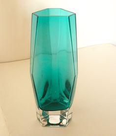 Riihimaki blue glass vase, art glass, decorative glass | Fantastic Supermarket
