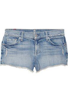 3812b92b4c03a 7 for all mankind - Low-rise stretch-denim shorts