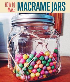 How To Make Macrame Jars | Learn how you can make this multi-purpose macrame jars today. #DiyReady www.diyready.com