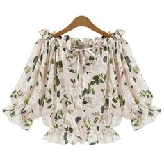 Stylish Slash Neck Half Sleeves Print Blouse For Women http://www.trendsgal.com/