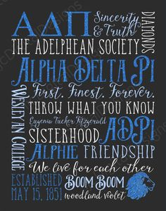 Amazing Alpha Delta Pi subway art design from Etsy shop ljcDigitalDesigns!! And you can customize it for yourself or your big/little!  I'm definitely buying this and framing it... or maybe using it as my new Erin Condren Life Planner Cover!