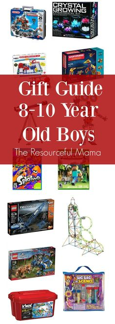 Love these gift ideas for 8-10 year old boys. Great ideas for Christmas or birthday presents. tween | STEM | science | video games | building | gift guide