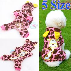 Pet Dog Cat Cute Christmas Hoodie Coat Jacket Puppy Costume Warm Apparel Clothes