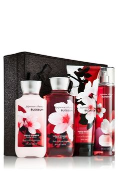 Japanese Cherry Blossom Cleanse, Moisturize, Fragrance Gift Set - Signature Collection - Bath & Body Works