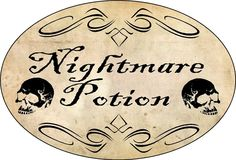 nightmare potion label