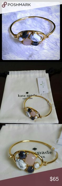 Kate Spade Blushing Multi Stone Gold Tone Bracelet New! New with tag! kate spade Jewelry Bracelets