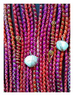 """Weiteres - 10 DE Mermaid Wooldreads """"Afterglow"""" - ein Designerstück von Katinka-Dreads bei DaWanda"""