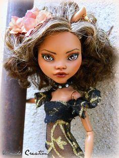 Gorgeous Clawdeen Wolf Repaint and Reroot! Clawdeen is a Monster High complete repaint/reroot. Her factory paint has been removed with acetone nail polish remover. Duraclear gloss finish has been added to her eyes and lips to create shine. | eBay!