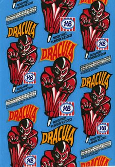 HB Dracula 1983 - I remember these ice lollies Blood Drive, Man Cave Art, Nostalgic Images, Flavor Ice, Ice Cream Van, Fruit Ice, Coffee Poster, Mixed Fruit, Vintage Horror