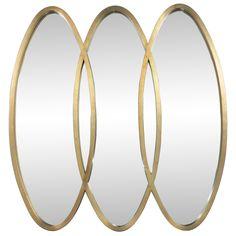 Modernist Oval Gold Leaf Triple Mirror (via @1stdibs)