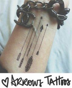 tatuagem de flecha arrow tattoo