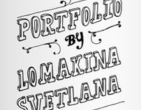 Portfolio book by Svetlana Lomakina, via Behance