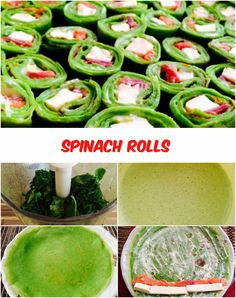 Spinach Rolls (St.Patrick's Day) Spinach – 100 g Milk – 2 cups Wheat flour – 6 tablespoons. Egg of chicken – 5 pieces Sunflower oil (for dough) – 2 tbsp. Salt (to taste) – 1 tsp. Sugar – 1 tbsp. Smoked salmon – 150 g Cream cheese – 100 g. ...