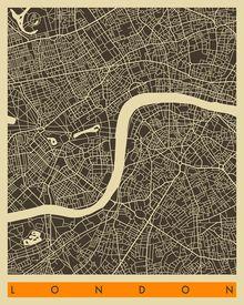 London - Jazzberry blue  http://www.eastendprints.co.uk/london-map-b-w-by-jazzberry-blue/