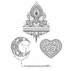 Dessins tatouage mandala femme fleur de lotus et rose