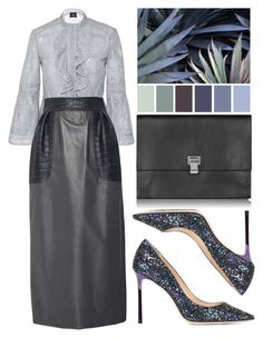 """Crocodile"" by cherieaustin ❤ liked on Polyvore featuring J. Mendel, Jimmy Choo and Proenza Schouler"