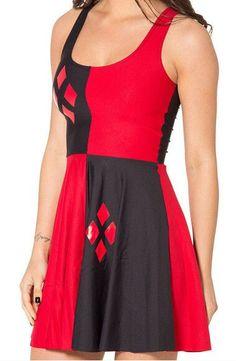New 2014 Tank Dress Woman Fashion Dress Sexy Party Casual Dress Harley Quinn Reversible Skater Dress Drop Shipping 0022 Harley Quinn, Women's Fashion Dresses, Sexy Dresses, Plus Size Dresses, Pleated Dresses, Wrap Dresses, Skater Dresses, Pleated Skirt, Dress Skirt