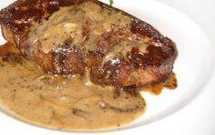 Dieta Dukana :: Polędwica pieczona w sosie musztardowym :: Przepisy Zasady Efekty Dukan Diet, Pork, Food And Drink, Diet, Kale Stir Fry, Pork Chops