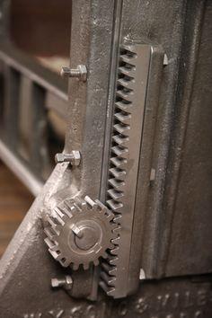 Vintage Industrial Adjustable Table/Desk Base image 7