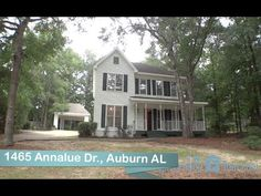 1465 Annalue Dr , Auburn, AL Location, Location, Location! This is a marvelous home on a large wooded lot in the heart of Auburn. Lovely front porch welcomes all who enter. offers great view of mature landscaped lawn. Entry foyer w/ gorgeous hardwoods branches off to formal dining on the left, featuring chair railing & crown molding. Office or study on the right. Both rooms showcase the same hardwood flooring. Call Ashley Durham (334) 559-8817. Prestige Properties.