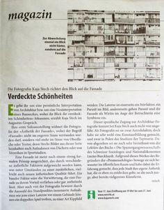 Review in Falter Magazine about Kaja Stech's work Floor Plans, Diagram, Magazine, Photography, Architecture, Photo Illustration, Photograph, Magazines, Photo Shoot