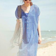 Princessantwerp wearing our Evora Shirt. #mesdemoisellesparis #shirt #springsummer #stripes #SS16