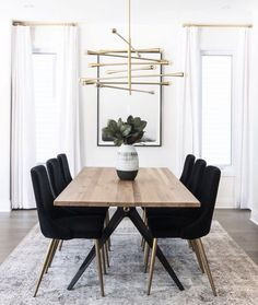 Dining Chair Stunning Dining Room Inspo - The Marble Home Room # . - Dining Chair Stunning Dining Room Inspo – The Marble Home room - Modern Dining, Velvet Dining Chairs, Interior, Dining Room Small, Modern Dining Room, Living Room Decor, Home Decor, House Interior, Dining Room Decor