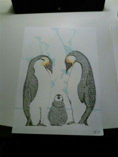 King Penguin pen drawing