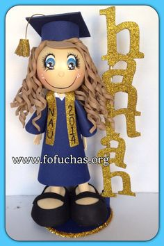 Graduation 3D Foamy Fofucha Doll , $27.50 #graduation #GraduationParty #fofuchas
