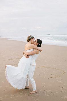 Amber & Nicola's Modern Maroochydore Waterside Wedding
