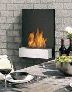 Bioethanol fireplace / contemporary / steel / open hearth RIVIERA EN GL by Jort Mercuur Safretti