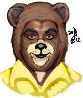 brown bear face paint - Pesquisa Google