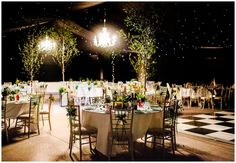 Fairytale woodland themed wedding reception: fairy lights, trees... Gorgeous. [lucabella.co.uk photography at Stainton Manor Farm]