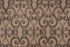 http://www.fabricguru.com  Mill Creek Caselli Chenille Scrollwork Upholstery Fabric in Juniper $13.95 per yard  CODE: 1346 38.2