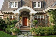 stone and shingle cottage