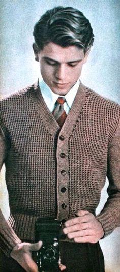 Vintage men's knitwear, 1950                                                                                                                                                                                 More