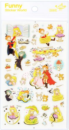 Funny Sticker World Rapunzel Fairy Tale Sticker Sheet