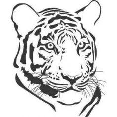 Dessin noir et blanc t te de tigre dans l 39 interpr tation noir 2 animales pinterest dessin - Tete de tigre dessin facile ...