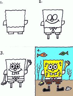 Posts about art for kids written by Stushie Drawing Lessons For Kids, Drawing Tutorials For Kids, Drawing Skills, Art Lessons, Classroom Art Projects, Easy Art Projects, Art Classroom, Spongebob Drawings, Cartoon Drawings