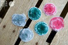 Fun flower poofs for little girls hair!