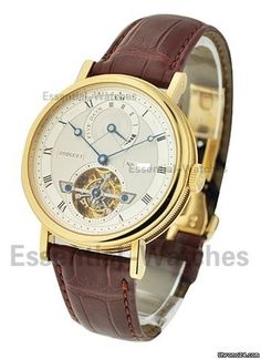 Breguet 5317 Tourbillon with 5 Day Power Reserve Automatic - Yellow Gold on Strap