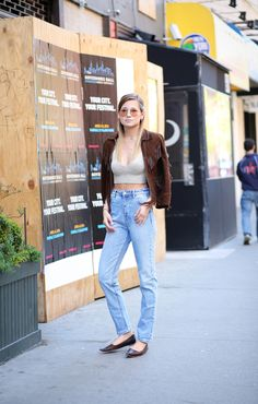 high waisted with a crop. Danielle in NYC. #weworewhat