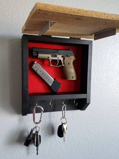 Discreet Gun Hiding Box and Key Chain Holder Hidden Gun Storage, Secret Storage, Diy Hidden Storage Ideas, Diy Wood Projects, Woodworking Projects, Welding Projects, Hidden Gun Cabinets, Secret Hiding Places, Hidden Places