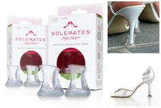 Solemates is a high heel protector cap the prevents heels from sinking in grass, going in-between porch boards and uneasy cobblestone.