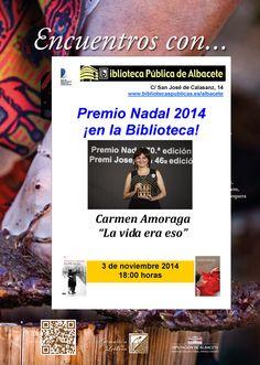 #actividadesbiblioteca Encuentro con Carmen Amoraga, Premio Nadal 2014