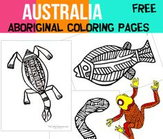 Australia Crafts and activities for kids. Aboriginal Cave Drawing, Boomerangs, face painting and more. Crafts about Australia that you can use alongside your classroom studies. Aboriginal Education, Aboriginal Culture, Aboriginal Art, Aboriginal Symbols, Australia For Kids, Australia Crafts, Colouring Pages, Coloring Pages For Kids, Coloring Sheets