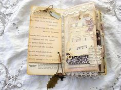 Vintage inspired travelers notebook/junk journal with a nature theme... Book covers are made from mat-board making the cover very sturdy. Outside is covered with pretty paper from a paper stack that I adore and have been hording for a long time!:) Inside covers covered with vintage garden book pages. On the front cover Iv added a rusty book plate that is open on the top making it easy to personalize if you wish. Notebook Is held closed with twine and button closure that can be taken off…
