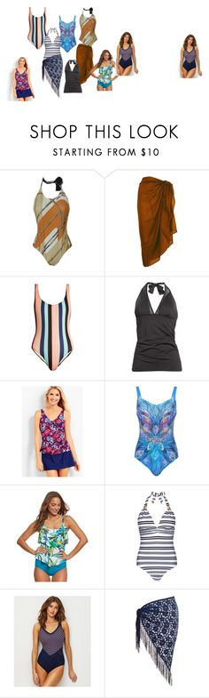 """""""Bathers"""" by fashionwithafriend on Polyvore featuring Hermès, TC Fine Intimates, Solid & Striped, Tommy Bahama, Talbots, Gottex, Maxine, Heidi Klein, Miraclesuit and Chesca"""